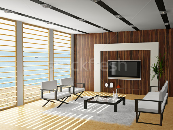 Living room 3D Stock photo © maknt