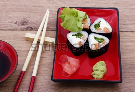 Sushis photo roulé poissons mer restaurant Photo stock © maknt