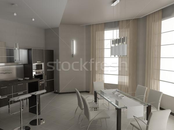 Keuken moderne interieur ontwerp home kamer Stockfoto © maknt