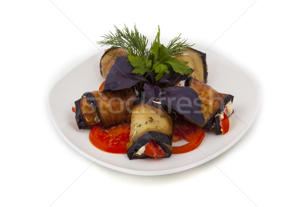 Plantaardige aubergine foto's zomer plaat Stockfoto © maknt