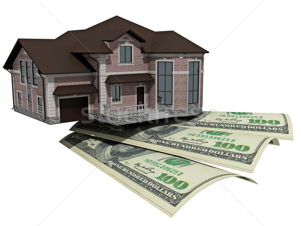 House with money over white background  Stock photo © maknt