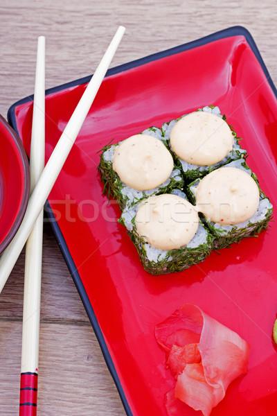 Stockfoto: Sushi · foto · vis · zee · restaurant