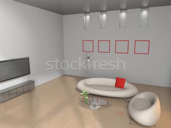 Stock foto: Sofa · Zimmer · modernen · Haus · Licht · Design