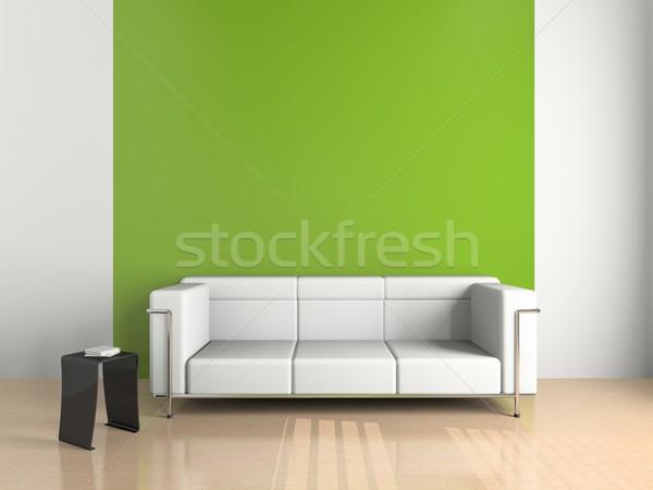 ソファ 白 3D 抽象的な ホーム 美 ストックフォト © maknt