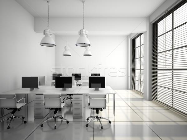 Moderne kantoor interieur witte 3D Stockfoto © maknt