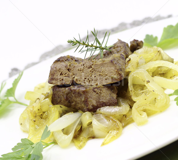 Fried pork liver Stock photo © Makse