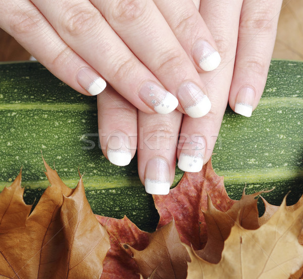French manicured nails Stock photo © Makse