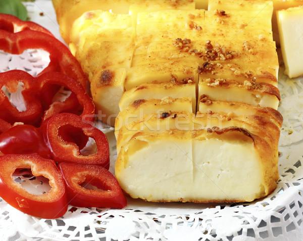 Peynir baharatlar lezzetli süzme peynir Stok fotoğraf © Makse