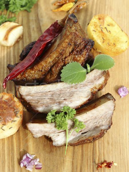 豚肉 リブ 野菜 フライド 肉 ストックフォト © Makse