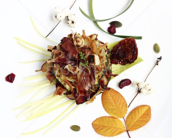 Delicioso aperitivo frito batata panquecas abobrinha Foto stock © Makse