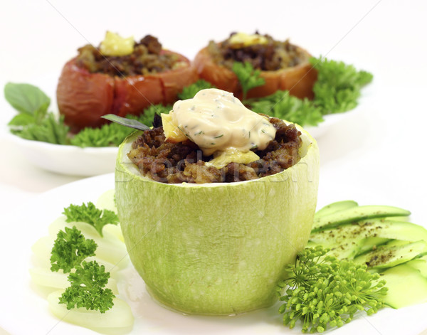 Gevuld courgette vlees groenten voedsel kaas Stockfoto © Makse