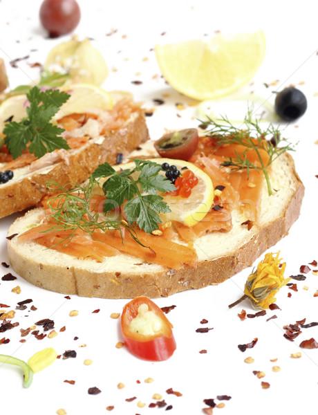 Sanduíche apetitoso sanduíches legumes comida Foto stock © Makse