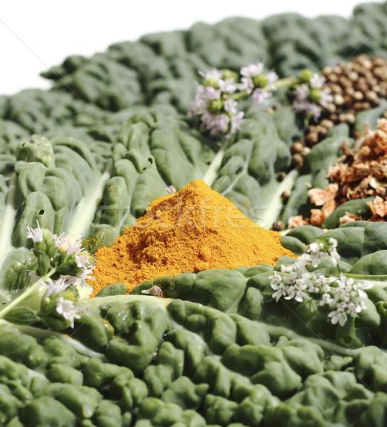 Baharatlar lahana levha yaprak renk Stok fotoğraf © Makse