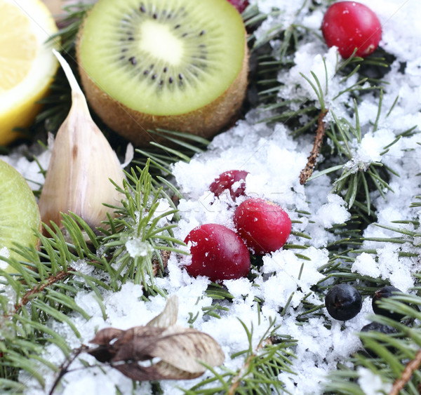 Fruits in the snow Stock photo © Makse