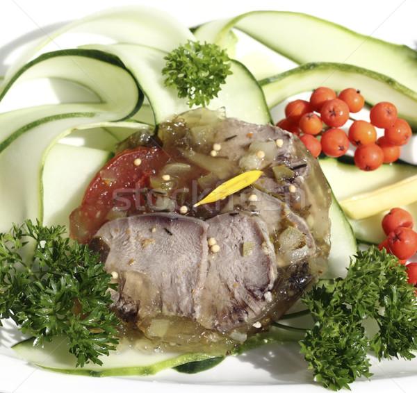 Dil salatalık şeritler yeşil akşam yemeği Stok fotoğraf © Makse