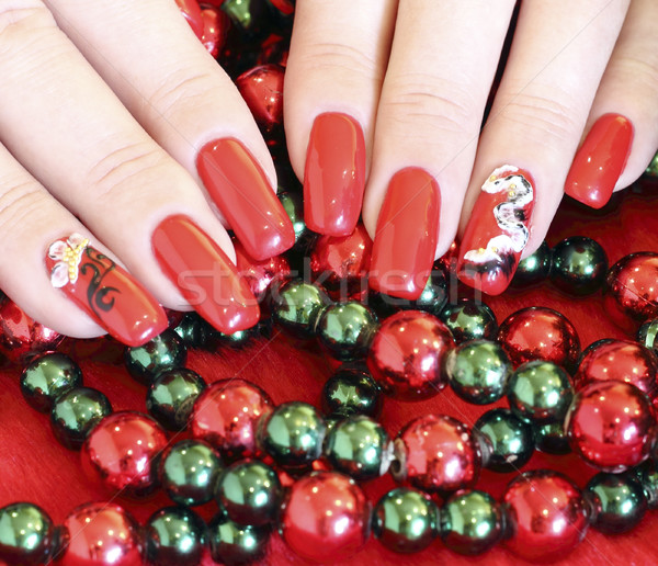 Beautiful nails with art Stock photo © Makse