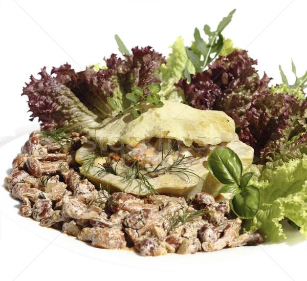 Recheado carne servido legumes cogumelo molho Foto stock © Makse
