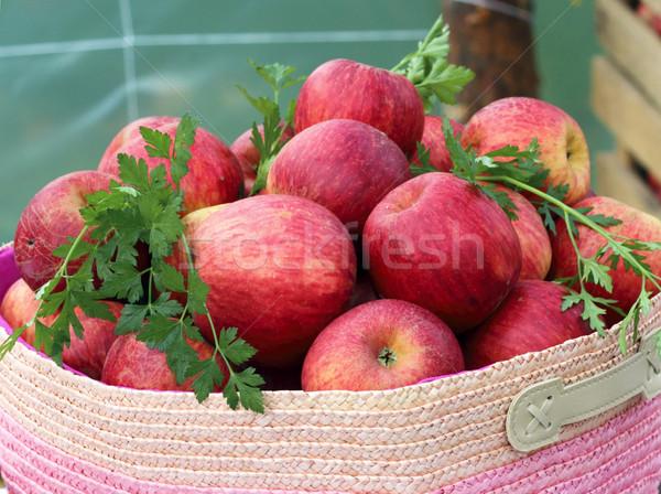 Red apples basket Stock photo © Makse
