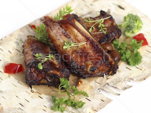 辛い 豚肉 リブ 野菜 キノコ ストックフォト © Makse