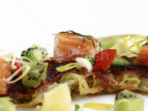 Segurelha aperitivo batata panquecas Foto stock © Makse