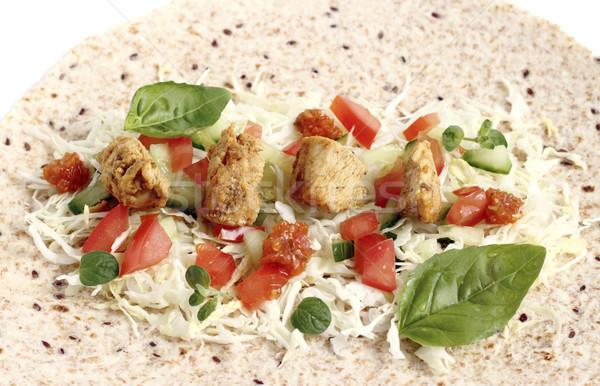 Santoreggia pollo verdura salsa alimentare cena Foto d'archivio © Makse