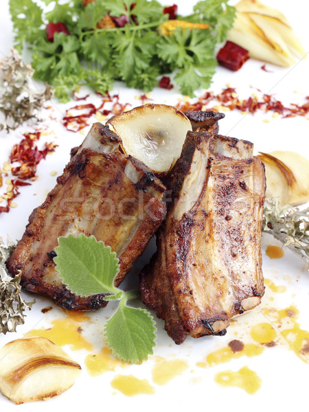 Grilled pork ribs Stock photo © Makse