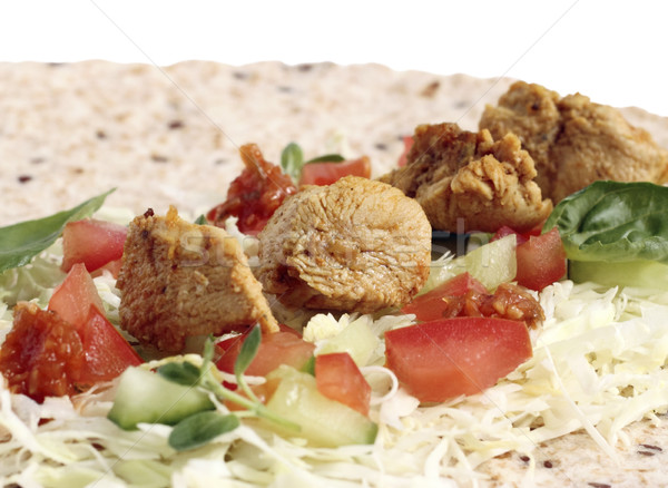 Chicken with vegetables Stock photo © Makse