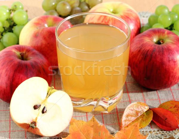 Almalé üveg frissen természetes étel alma Stock fotó © Makse
