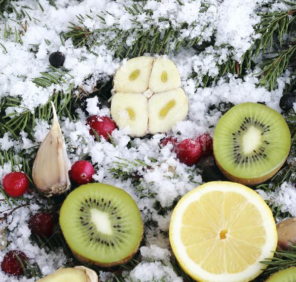 фрукты снега Ягоды ель здоровья Сток-фото © Makse