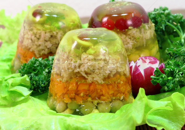 Carne gelatina insalata foglia bianco Foto d'archivio © Makse