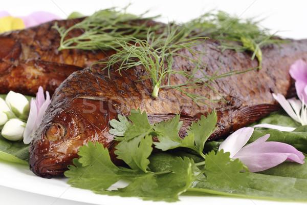 Füme balık taze gıda mutfak Stok fotoğraf © Makse