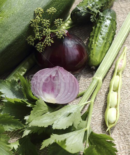 Kırmızı soğan taze diğer sebze Stok fotoğraf © Makse