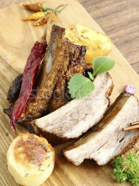 豚肉 リブ 野菜 フライド 赤 ストックフォト © Makse