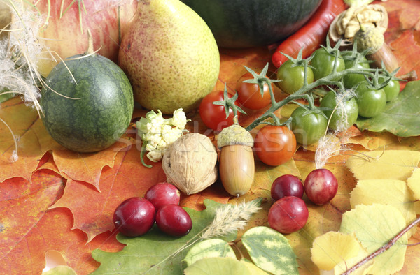 Healthy organic vegetables and fruits Stock photo © Makse