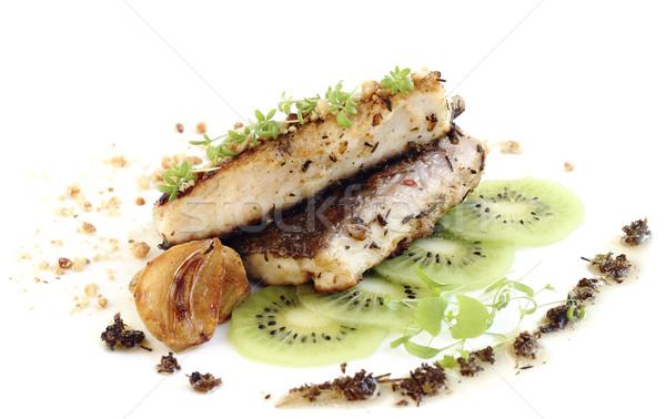 Balık fileto hizmet kivi Stok fotoğraf © Makse