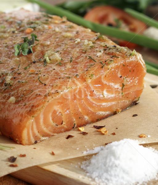 лосося соль перец специи древесины Сток-фото © Makse