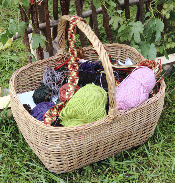 Basket with yarn  Stock photo © Makse