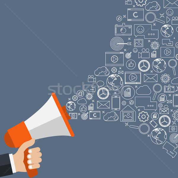 Cyfrowe obrotu projektu wiadomości komunikacji rynku Zdjęcia stock © makyzz
