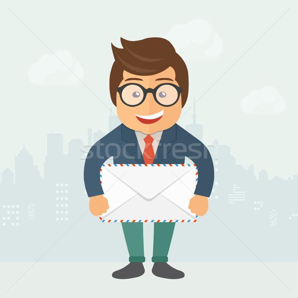 Zakenman business contract overeenkomst document Stockfoto © makyzz