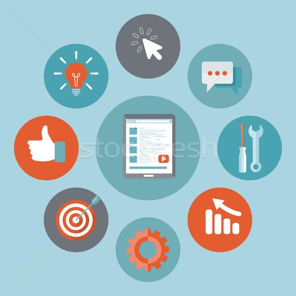 Stok fotoğraf: Uygulama · gelişme · ikon · Bina · başarılı · iş