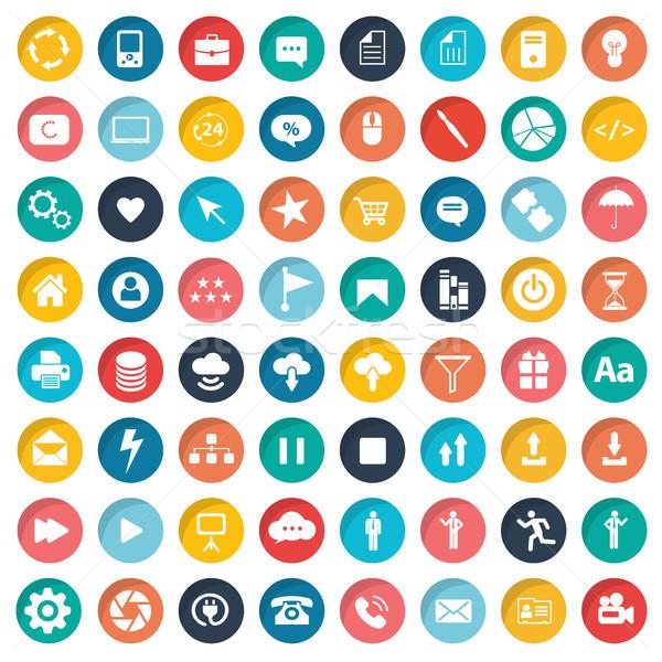 Web tasarım evrensel ayarlamak imzalamak ağ Stok fotoğraf © makyzz
