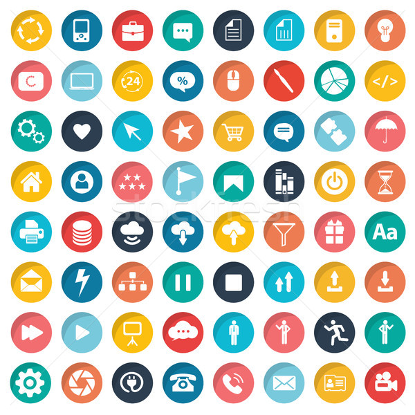 Webデザイン ユニバーサル セット にログイン ネットワーク ストックフォト © makyzz