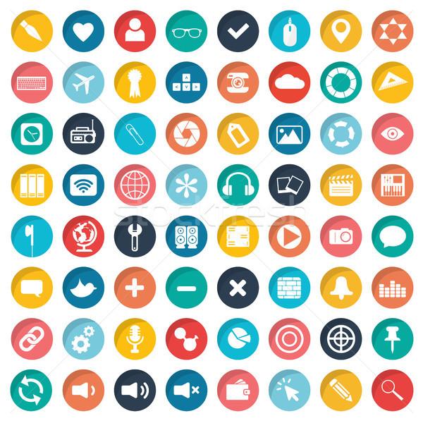 Foto stock: Aplicativo · negócio · computador · música