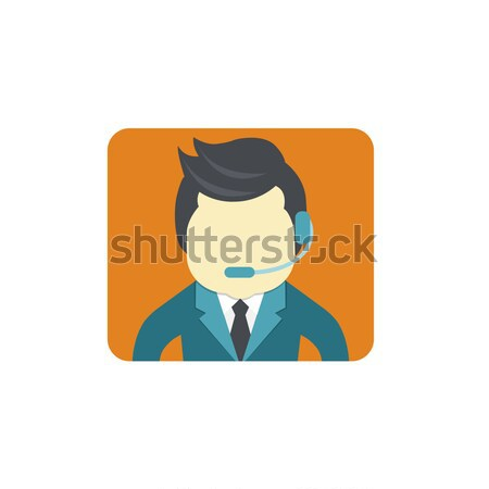 Business customer care service concept. Icon of contact us, support, help, phone call and website cl Stock photo © makyzz