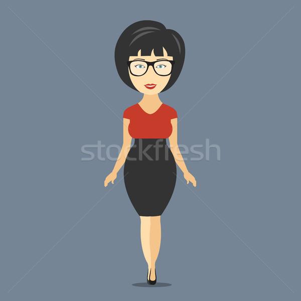 Businesswoman cartoon character. Flat vector illustration Stock photo © makyzz