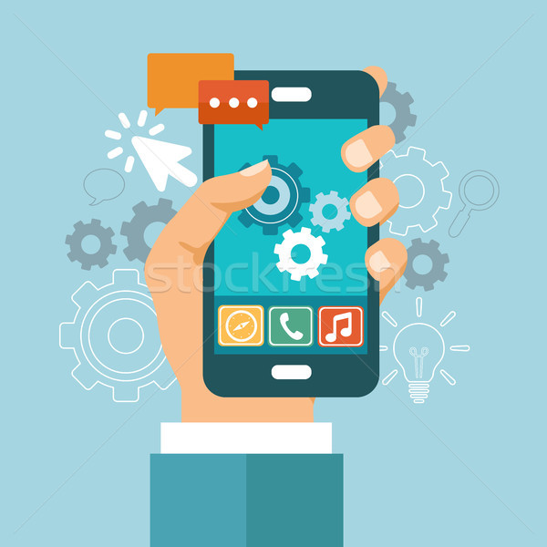 Application development icon Stock photo © makyzz
