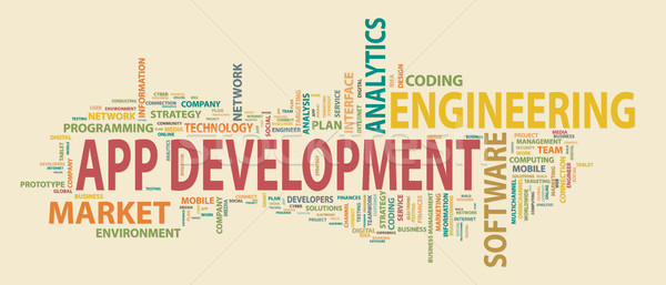 Application development banner. Concept to building successful business. Typography banner. Flat vec Stock photo © makyzz