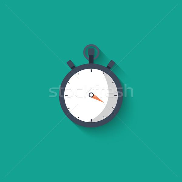 Cronógrafo icono reloj ver carrera sombra Foto stock © makyzz