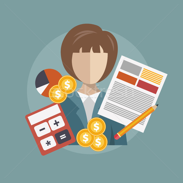 Business research and analysis concept. Flat vector illustration Stock photo © makyzz
