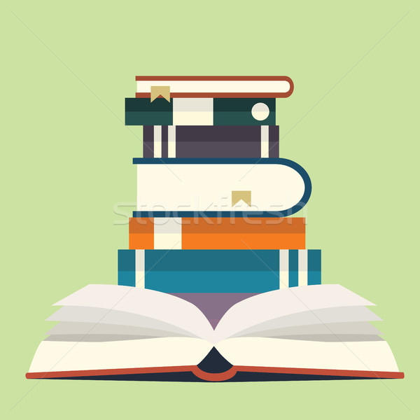 Stack of books. Education concept. Flat vector. Stock photo © makyzz